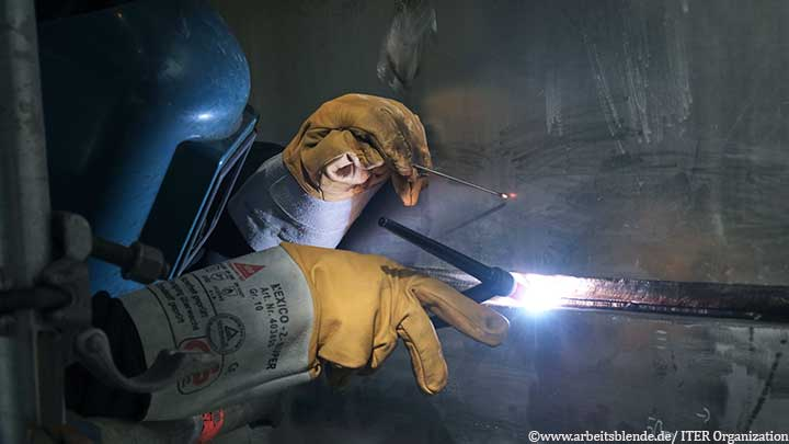 A MAN welder working on the ITER site in France