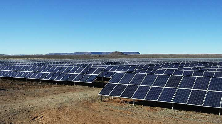 Solar farm in the Karoo of South Africa