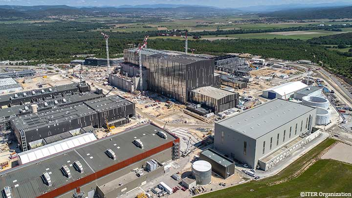 ITER construction site in Cadarache, Southern France