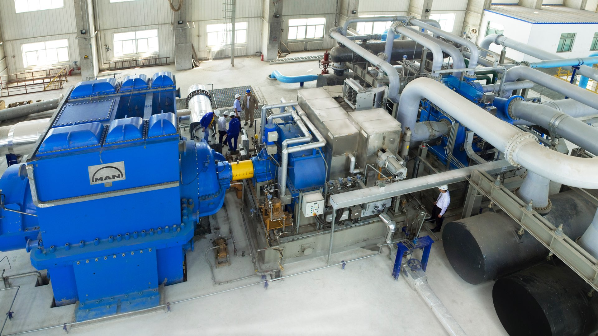 Steam turbine installed in Bautou, China